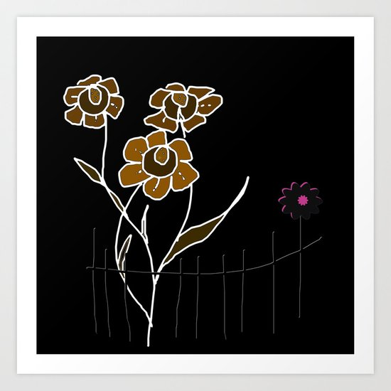 Painting flowers Art Print