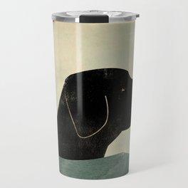 Black Lab Swim Dog Travel Mug