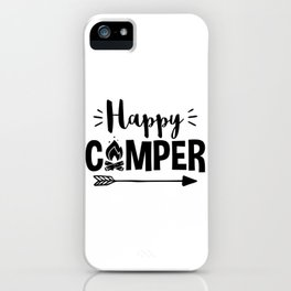 Love to Camp Camping Design iPhone Case