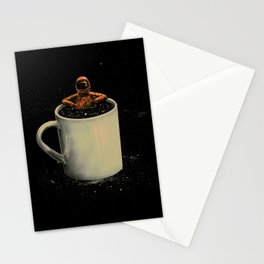 Space Coffee Stationery Cards