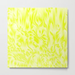 Pastel smudges stains of delicate colors with yellow. Metal Print