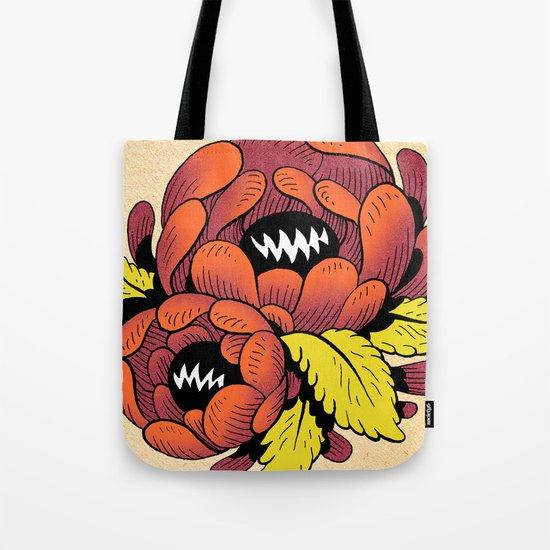 Grim Blossom Tote Bag
