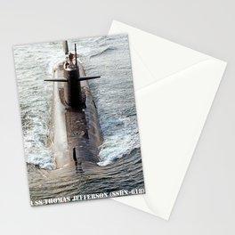 USS THOMAS JEFFERSON (SSBN-618) Stationery Cards