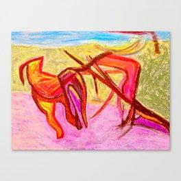 Dog Run in Park Canvas Print