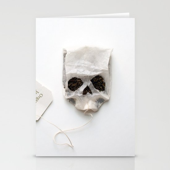 253. Tea Bag Skull Stationery Cards