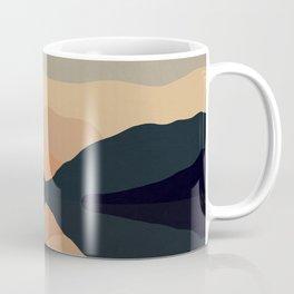 Sunset Mountain Reflection in Water Coffee Mug