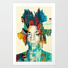 THE RADIANT CHILD (Jean-Michel Basquiat) Art Print