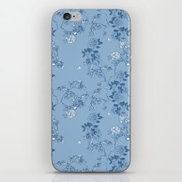 Chinoiserie in China Blue iPhone Skin