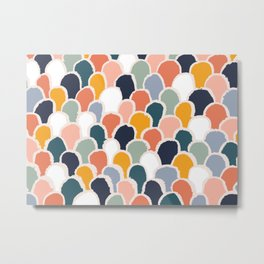 New world - Abstract geometric colorful pattern Metal Print