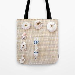 Nautical design urchins and seashells Tote Bag