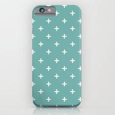 Ikea blue plus pattern iPhone 6s Slim Case