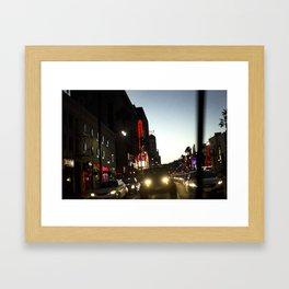 Crossing Hollywood Blvd. Framed Art Print