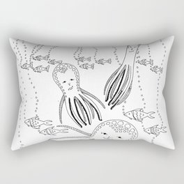 Gentle Giants BW Rectangular Pillow
