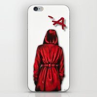 "pretty little liars iPhone & iPod Skins featuring Pretty Little Liars - ""Red Coat"" 