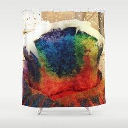 Tie Dye Cupcake Shower Curtain
