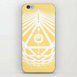 Radiant Abundance (light yellow-white) iPhone Skin