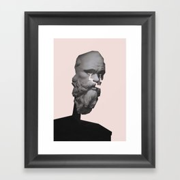Old man cry Framed Art Print