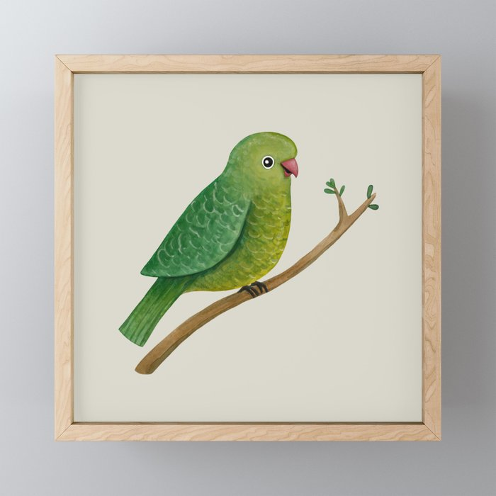 Cute Parrot Framed Mini Art Print