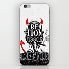 CREATION NEEDS A DEMON iPhone & iPod Skin