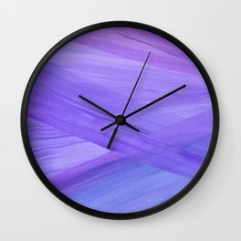 Purple Abstract Lines Wall Clock