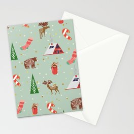 Christmas Pattern Stationery Cards
