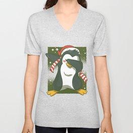 Penguin Dab Unisex V-Neck