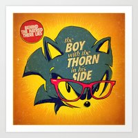 the smiths Art Prints featuring 8-bit Smiths | Thorn by Butcher Billy