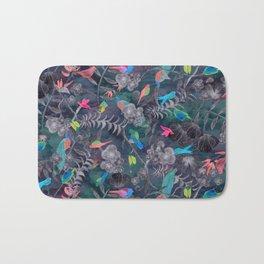 Birds and Flowers Color Pencil Bath Mat
