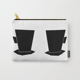 Have Some Coffee And Talk About Love no.5 - minimalist art black and white illustration Carry-All Pouch