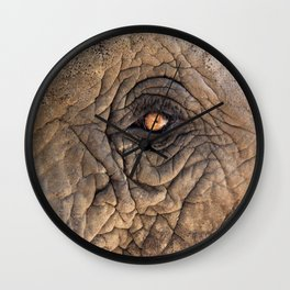 eye of elefant Wall Clock