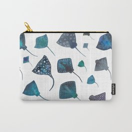 Stingray and Manta Ray Starry Ocean Pattern Carry-All Pouch