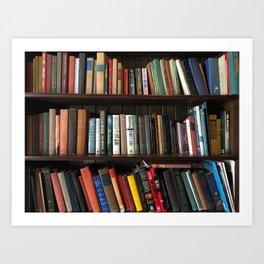 The Bookshelf in the Library Art Print