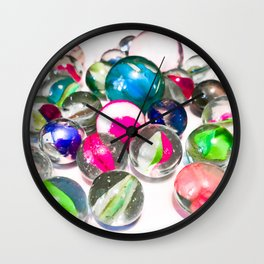 Pink Marbles Wall Clock