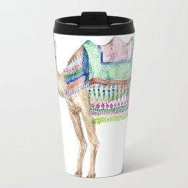 Boho Camel Tassel India Morocco Camel Watercolor Travel Mug