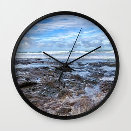 Morning on the Rocks  Wall Clock