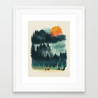 camp Framed Art Prints featuring Wilderness Camp by dan elijah g. fajardo