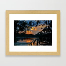Reservoir Sunset Framed Art Print