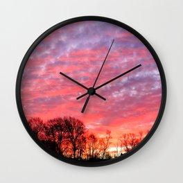 Morning Painted Skies Wall Clock