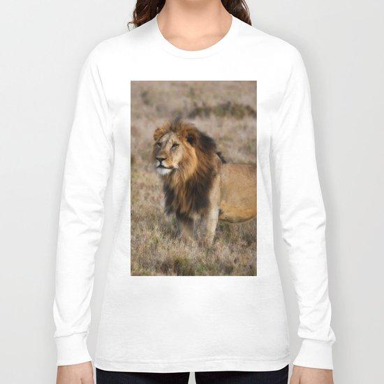 African Lion in Kenya Long Sleeve T-shirt