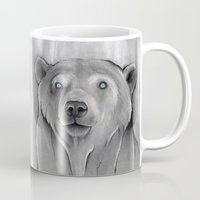 teddy bear Mugs featuring Teddy Bear by Puddingshades