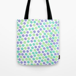 Bubble Drops Pattern Print Tote Bag