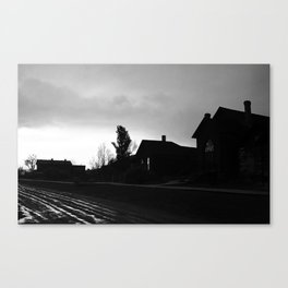 Silhouetted Stillness Canvas Print
