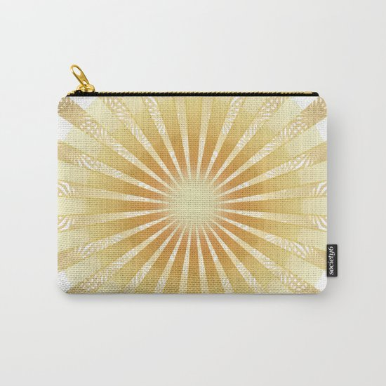 Golden Rays Mandala Carry-All Pouch