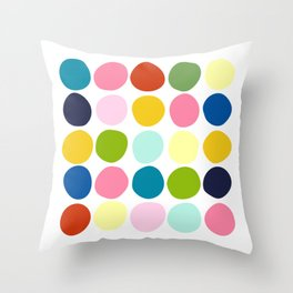 Modern art of colorful circles Throw Pillow