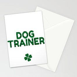 Luckiest Dog Trainer Ever St. Patricks Day Lucky Irish Stationery Cards
