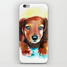 Dachshund Watercolor Painting Art iPhone Skin