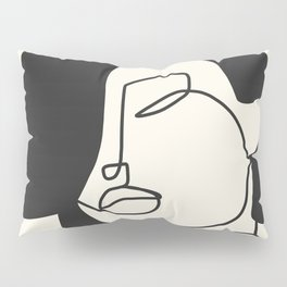 Drawing female face portrait II Pillow Sham