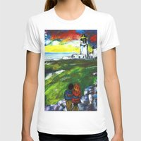 lighthouse T-shirts featuring lighthouse by Nastya Bo