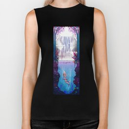 Waterfall Dream Biker Tank
