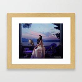 Something In The Air Framed Art Print